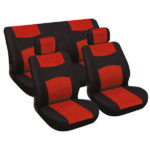 Seat Cover Set 6 pcs red/black