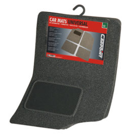 Grey Carpet Mats 4 pc Universal