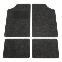 Black Carpet Mats 4vpc Universal