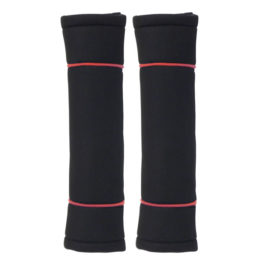 Seatbelt Pads 'Classic' Black/Red